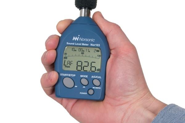Miniaturowy miernik poziomu dźwięku Nor103