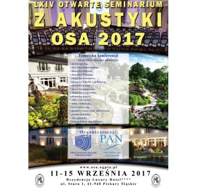 LXIV Otwarte Seminarium z Akustyki (OSA 2017)