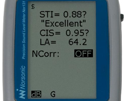 Zestaw do pomiarów zrozumiałości mowy STIPA