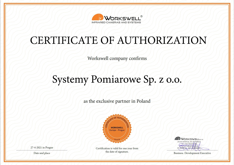 Systemy Pomiarowe głównym, autoryzowanym dystrybutorem firmy Workswell w Polsce!